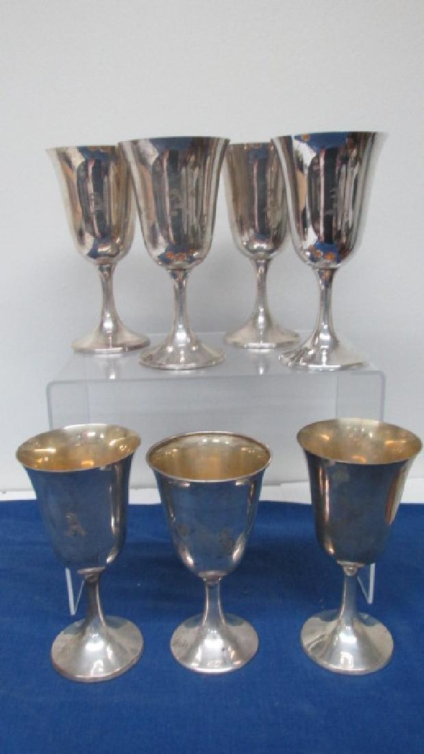 7 Sterling Wine Goblets