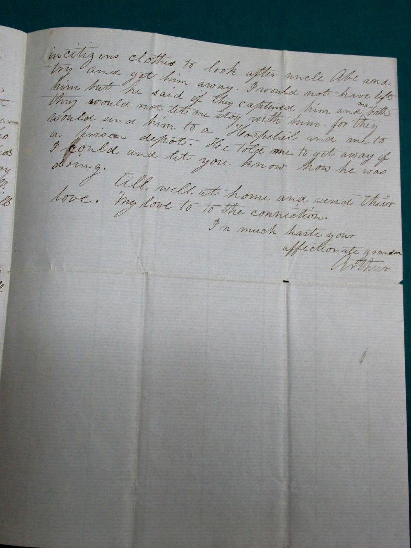 1862 Southern Soldier Letter Concerning Wounds In - 3