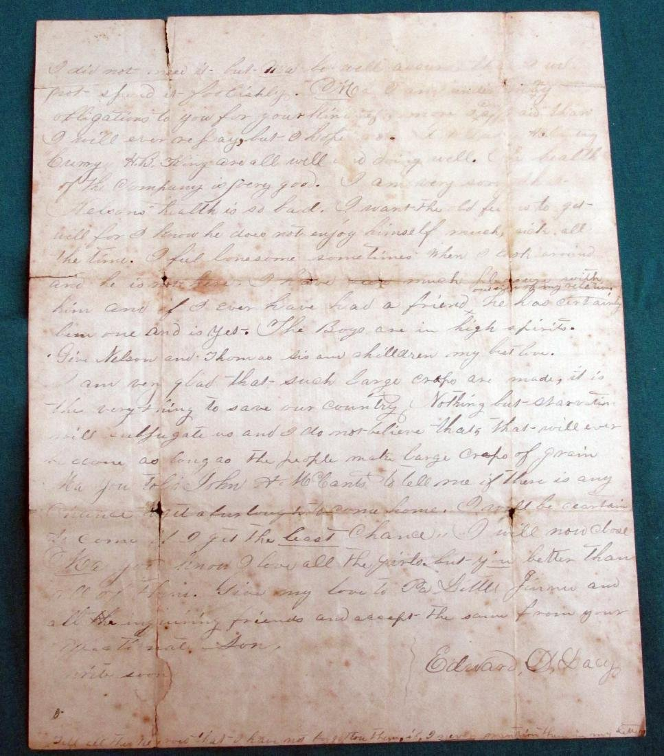 186? Confederate Soldier Letter to His Alabama Mother