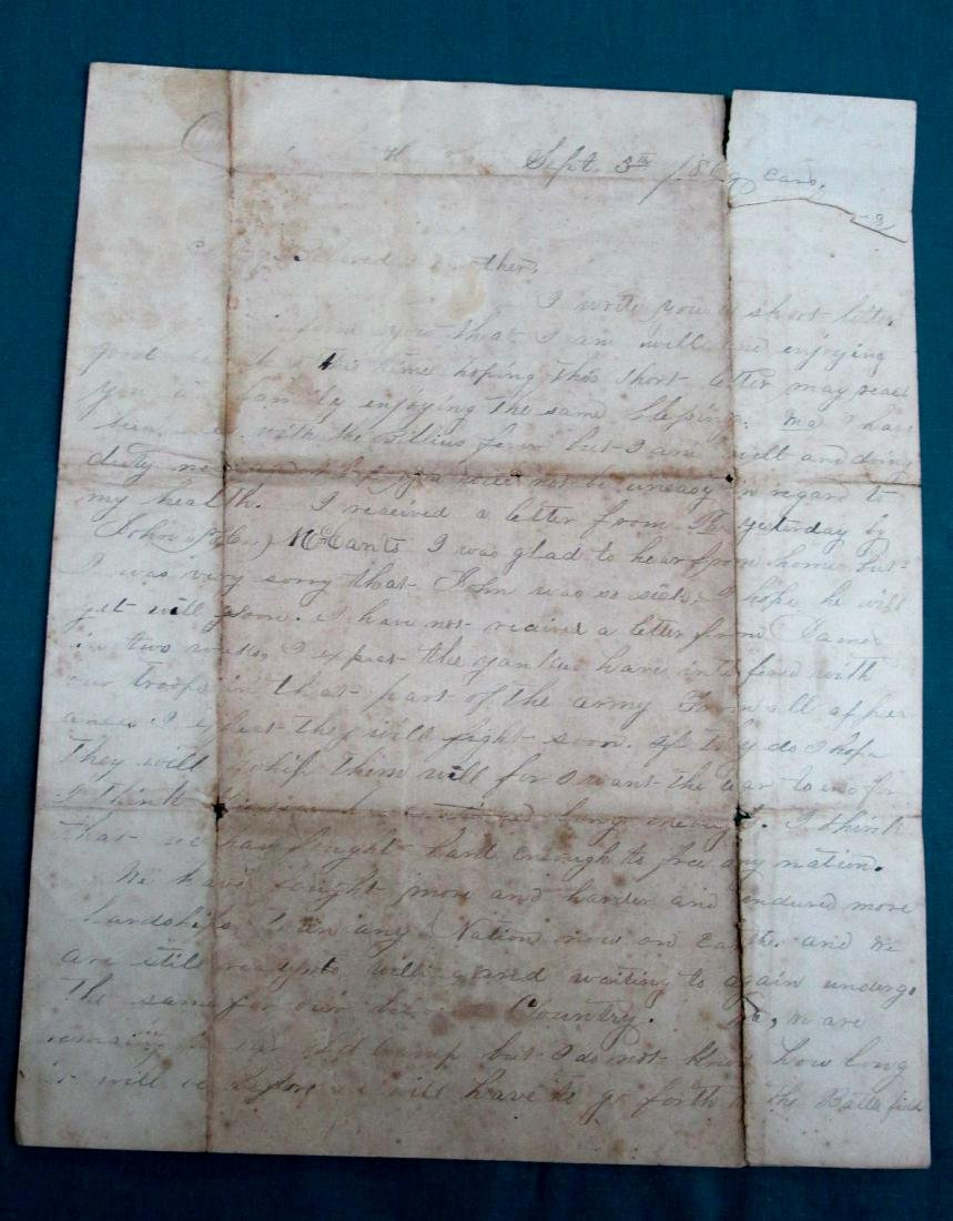 186? Confederate Soldier Letter to His Alabama Mother - 3