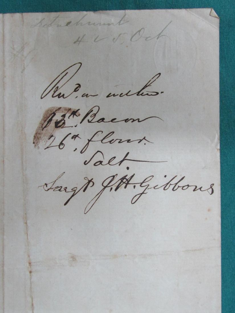 Capt. J. K. Fowler 1862 Dakota Territory Rations Col. - 3