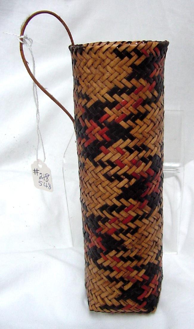 Cherokee River cane Double Woven Elbow Basket