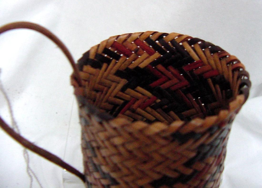 Cherokee River cane Double Woven Elbow Basket - 2
