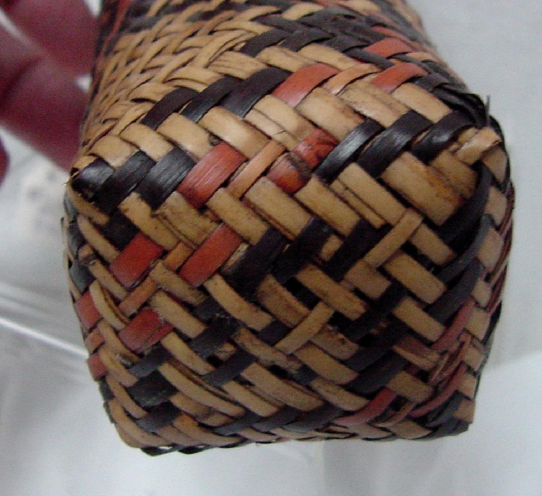 Cherokee River cane Double Woven Elbow Basket - 3