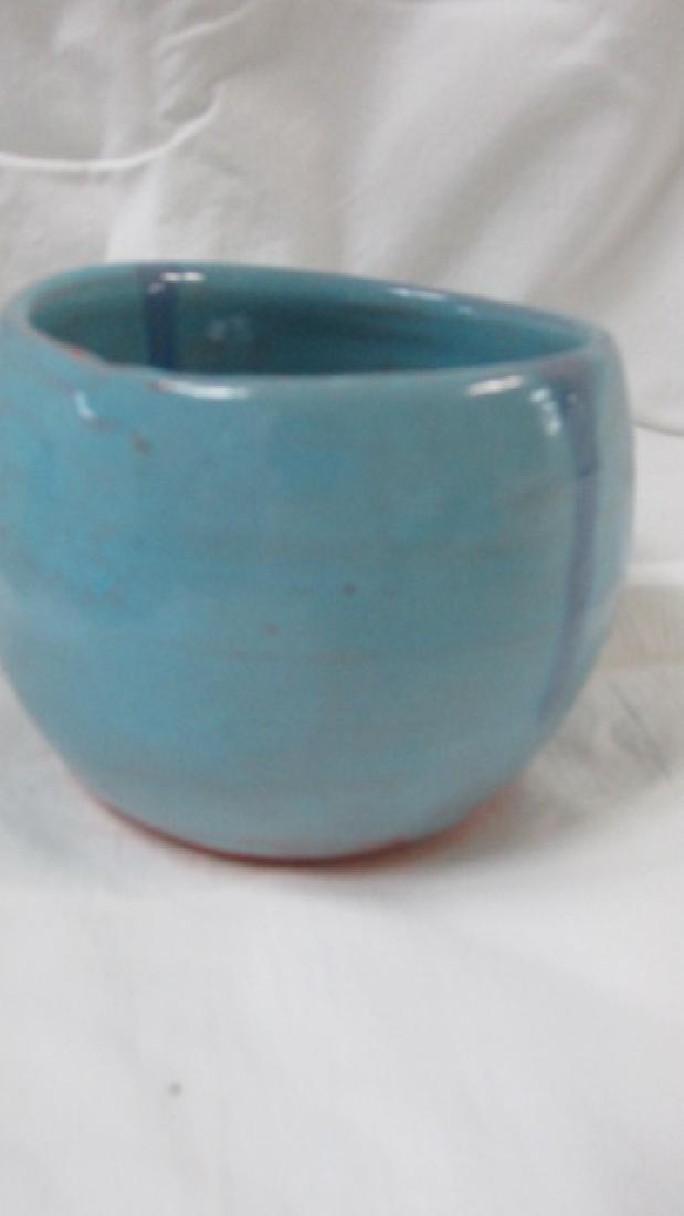 Handmade Blue Pottery Bowl