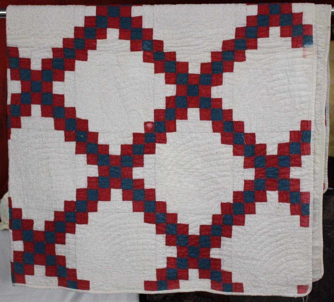 Red White & Blue 1910 Cotton Quilt