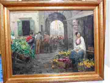 The Flower Vendor 1880s O/C