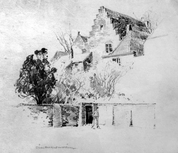 1010: House At Ogunquit by Charles H. Woodbury