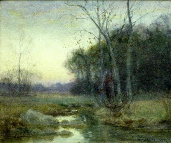 1012: Autumn Pond by William Merritt Post