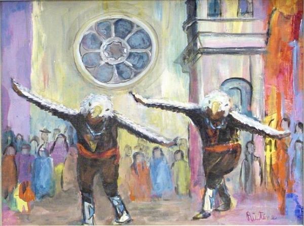 1013: Eagle Dancers Santa Fe by Doris Ristine