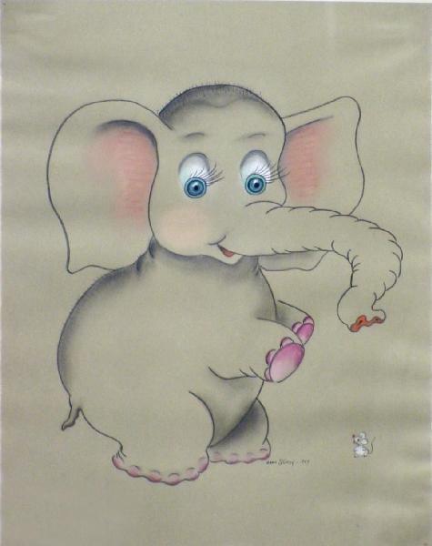 1014: Elephant & Mouse By Ardis Sturdy