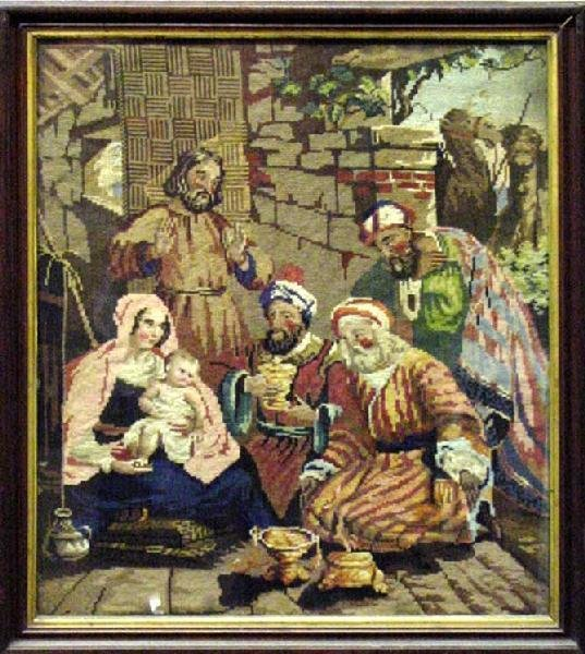 1016: The Holy Family & 3 Wise Men Bearing Gifts