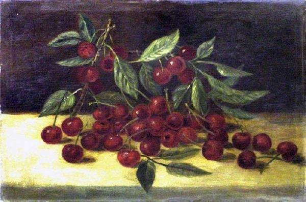 1020: 19th Cen. Cherries Still Life