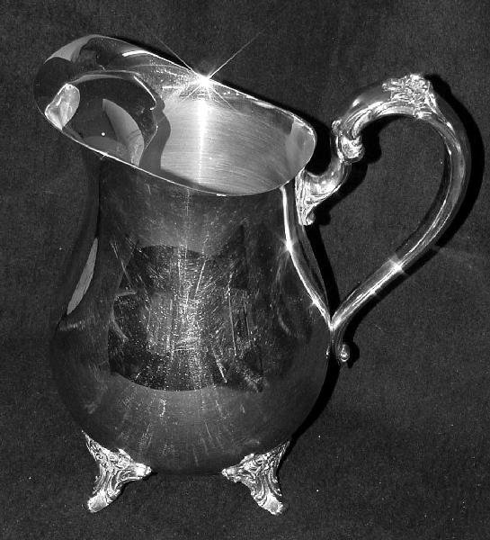 2069: Oneida Silver Plated Classical Form Water Pitcher - 2