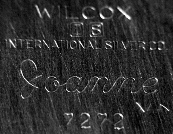 2120: Wilcox International Silver Co., JoAnne Pattern # - 3