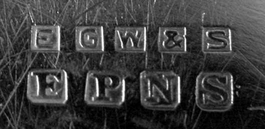 2169: EPNS Makers Mark EGW&S Grape Cluster & Leaf w/Vin - 5