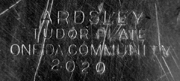 2265: Ardsley Tudor Plate Oneida Community # 2020 Large - 4