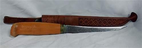 "11"" long filet knife w/shieth, J. Marttini Finland"