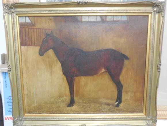 19th Cent. Horse Painting O/C