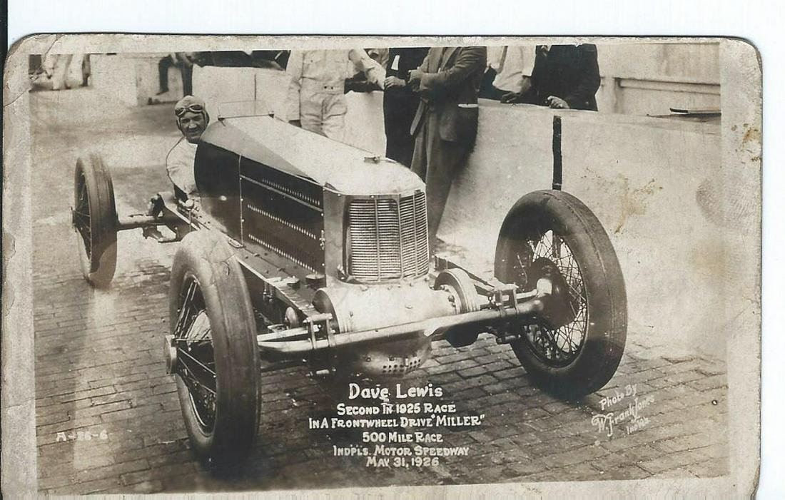 Dave Lewis 1926 Indy 500 Race Photo