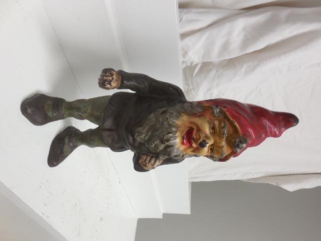 Hubley Cast Iron Gnome Door Stop