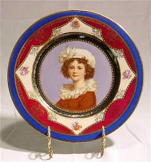 Pr. Beehive Portrait Plates, Austrian, 1880-1910