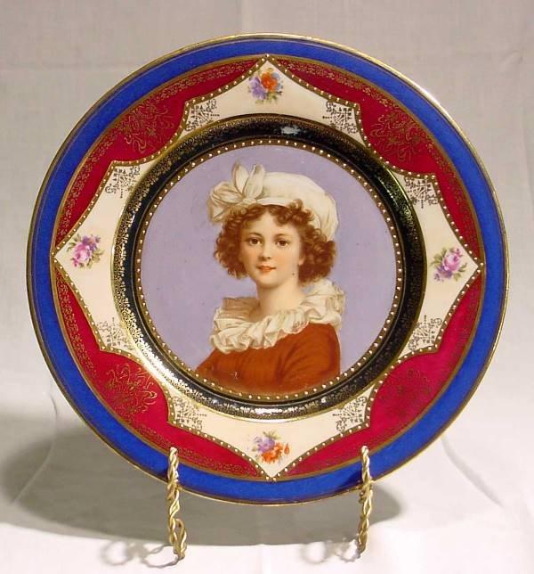 1001: Pr. Beehive Portrait Plates, Austrian, 1880-1910