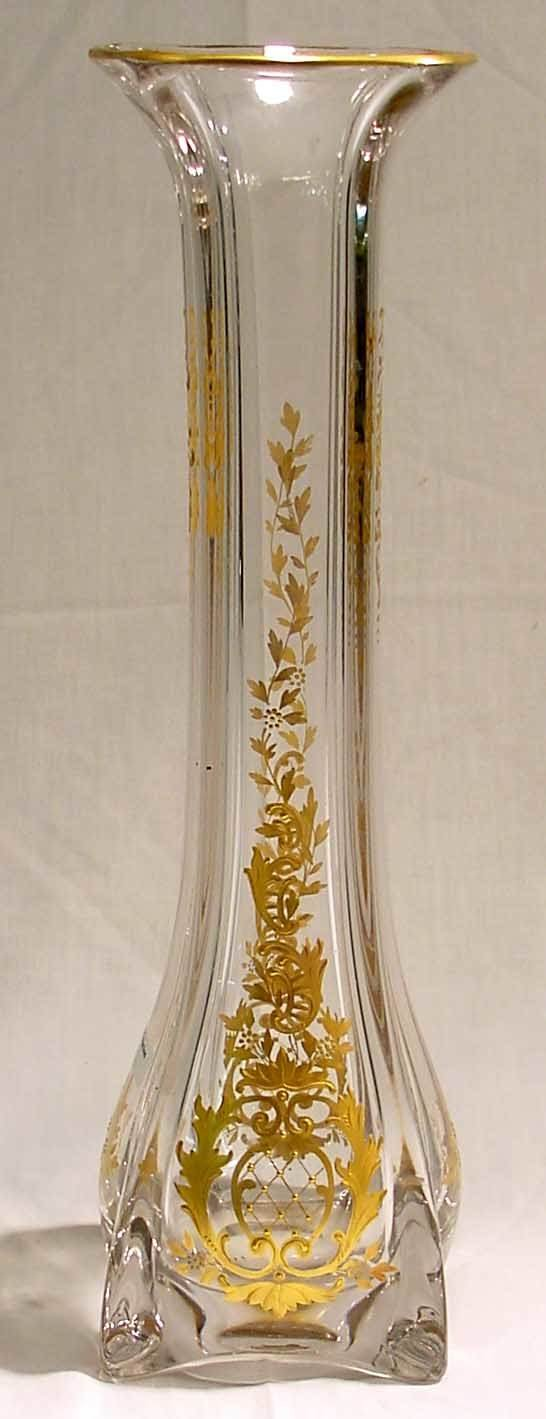 1004: Art Glass Victorian Vase