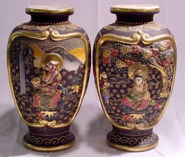 1006: Pr. Oriental 19th Century Vases