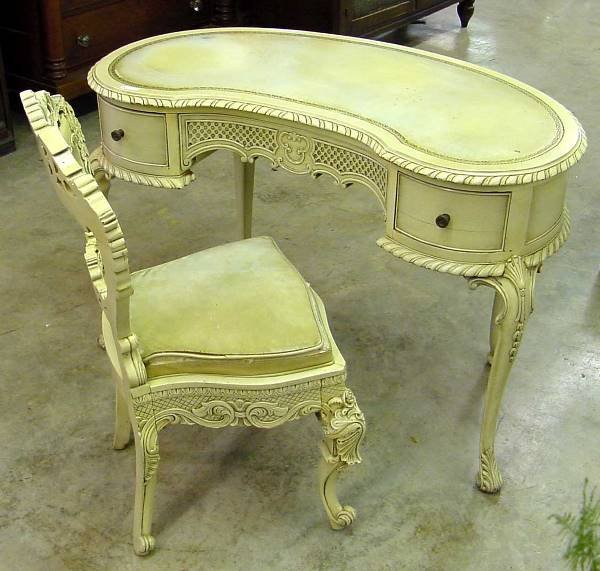 1008: 50s Kidney Shaped Desk & Chair