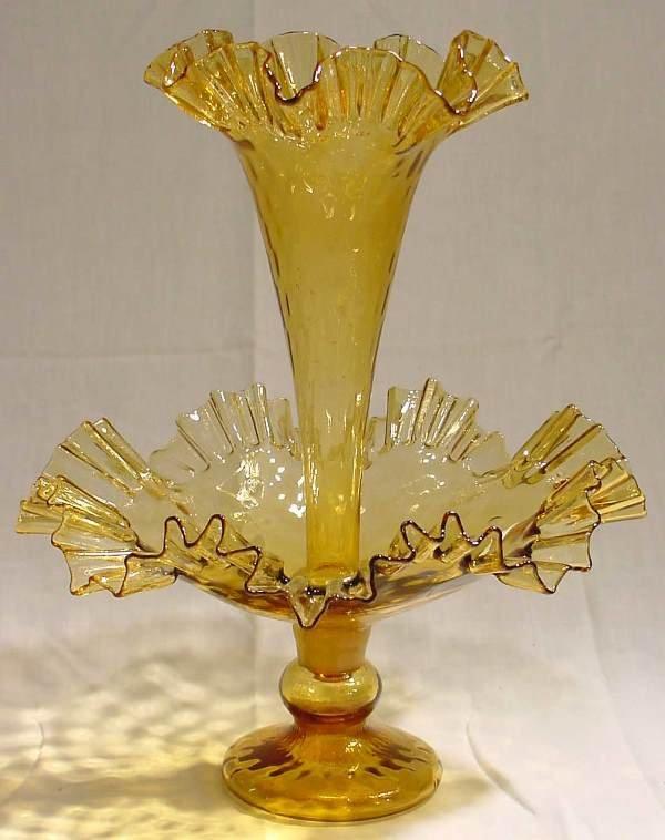 1009: Amber Glass Epergne