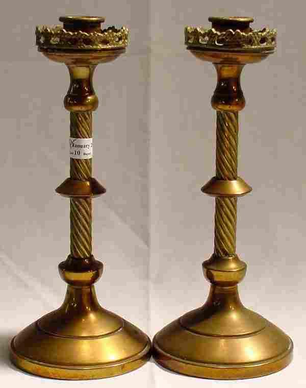 Pr. Brass Candlesticks