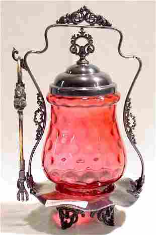Cranberry Pickle Caster, Victorian