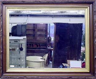 Victorian Walnut Mirror, 1870