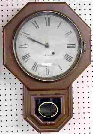 Seth Thomas Mahogany School House Clock