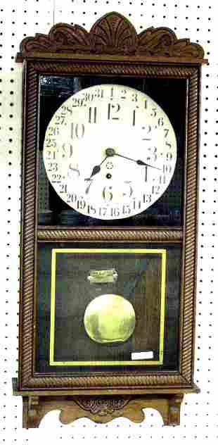 New Haven Calender Oak Clock