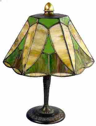 30s Slag Glass Table Lamp