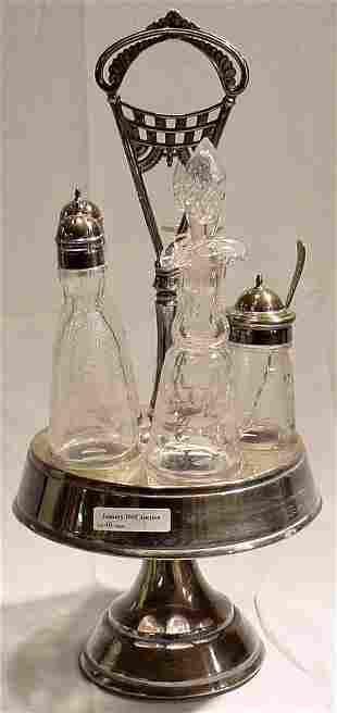 Victorian Plated Cruet Set