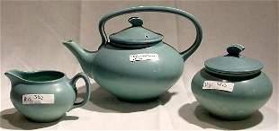 3 Pc Rookwood Tea Set, 1919
