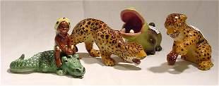 Ceramic Arts Studio 5 Piece Animal Lot