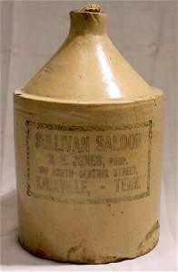 1067: Sullivan Saloon Liquor Jug