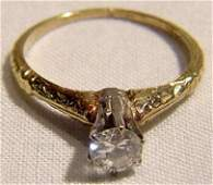 1145 14K Art Deco Diamond Ring