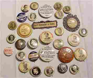 1315: Early 20th Cent. Political Buttons