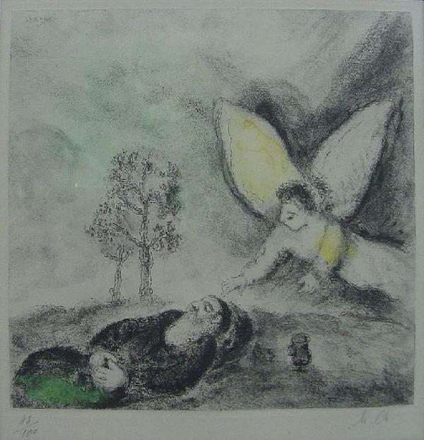 Marc Chagall - Elie Touche Par Un Angel