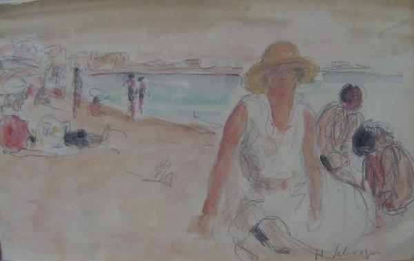 H. Lebasque  - Classic Beach Vacation Scene