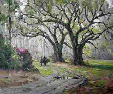 Anthony Thieme - Entrance Magnolia Gardens In Spring Ch