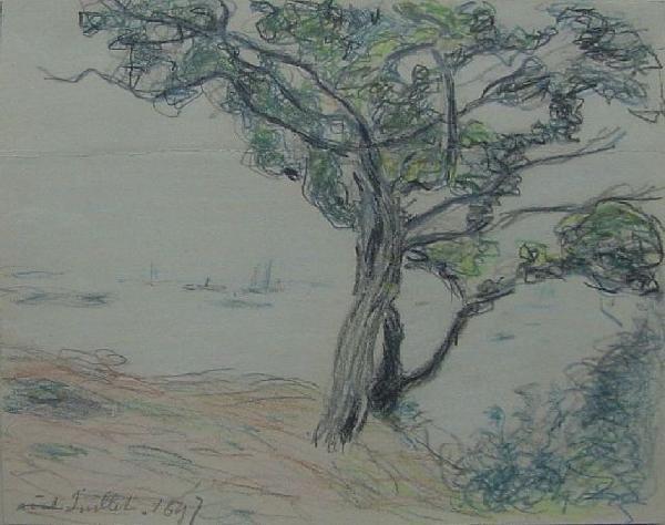 A. Sisley - Sketch For La Rade du Cardiff