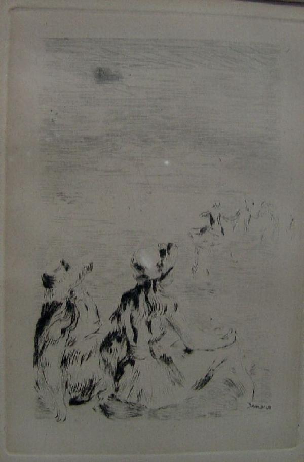 A. Renoir - Sur La Plage A Berneval