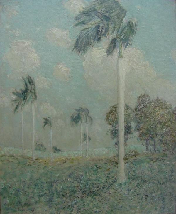Childe Hassam, 1855-1935 - Royal Palms, Cuba 1895