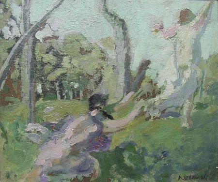 2: Ker-Xavier Roussel, 1867-1944 Satyr Chasing a Woodla